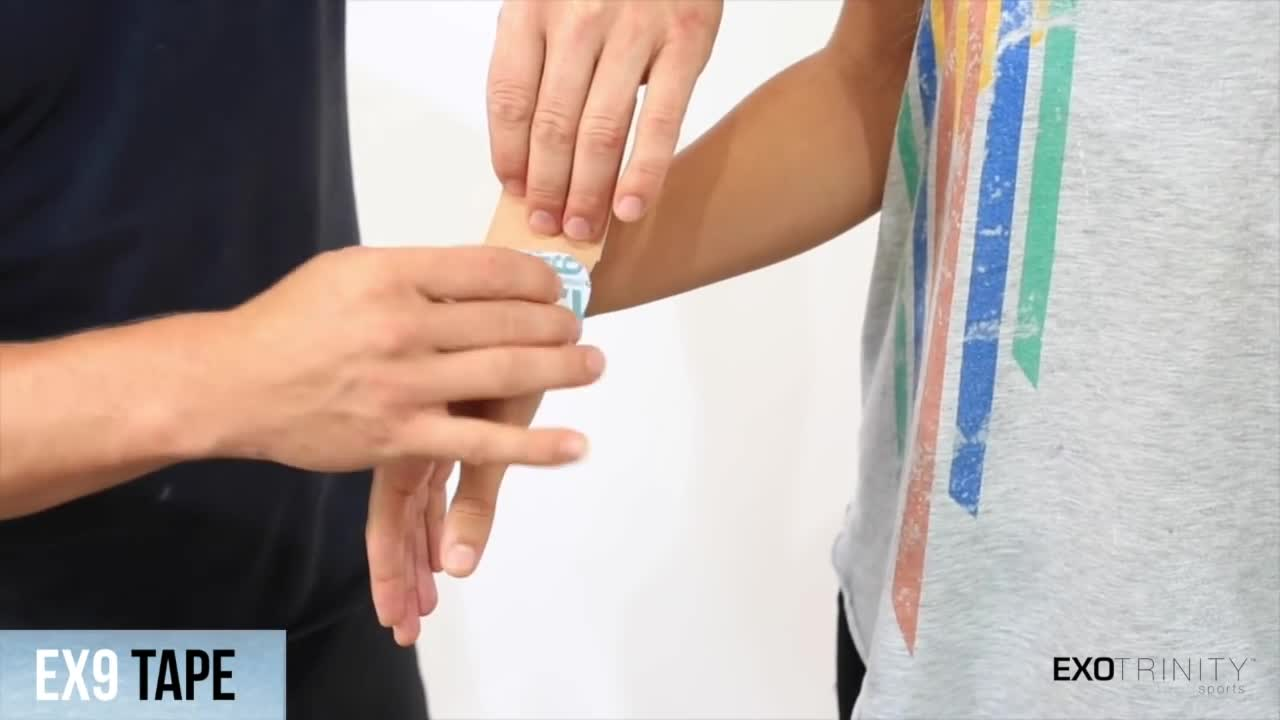 How To Apply EX9 Kinesiology Tape For Wrist Pain and RSI