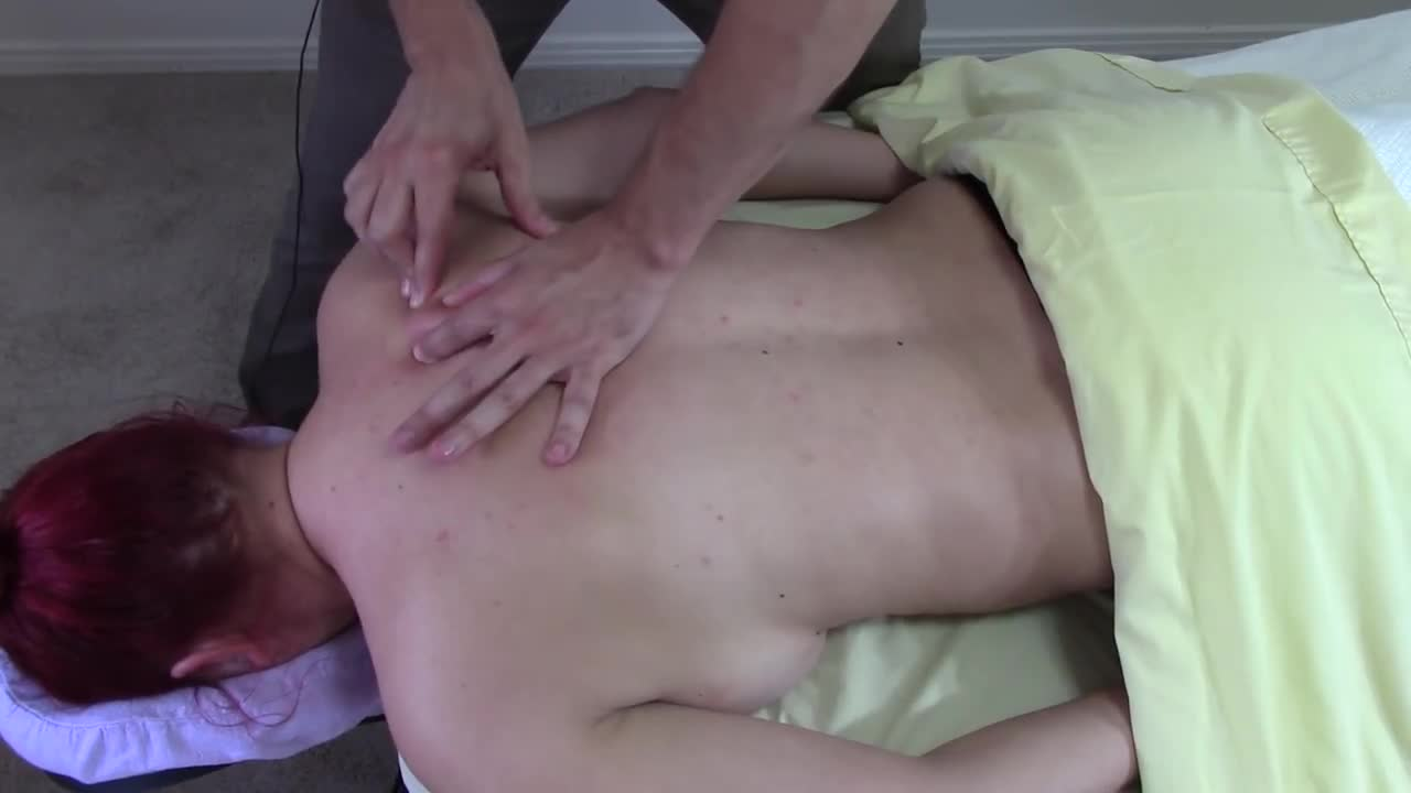 Massage Tutorial: Pain under the shoulder blade, myofascial release
